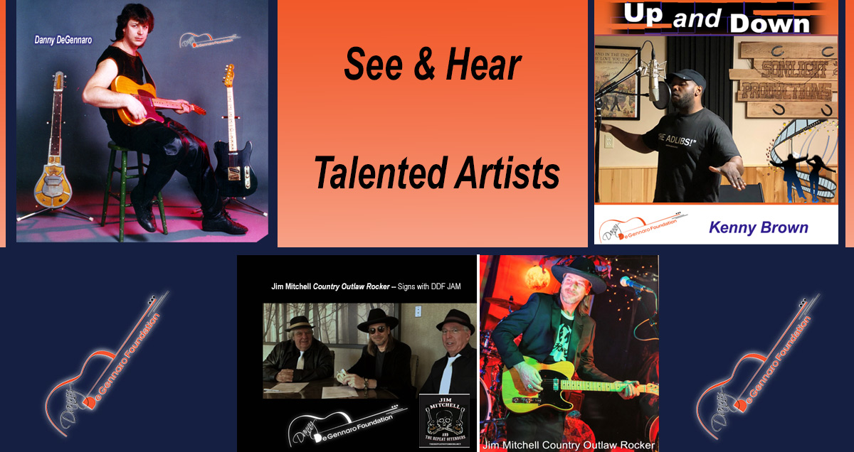 Listen to the artists affilliated with the Danny DeGennaro Foundation